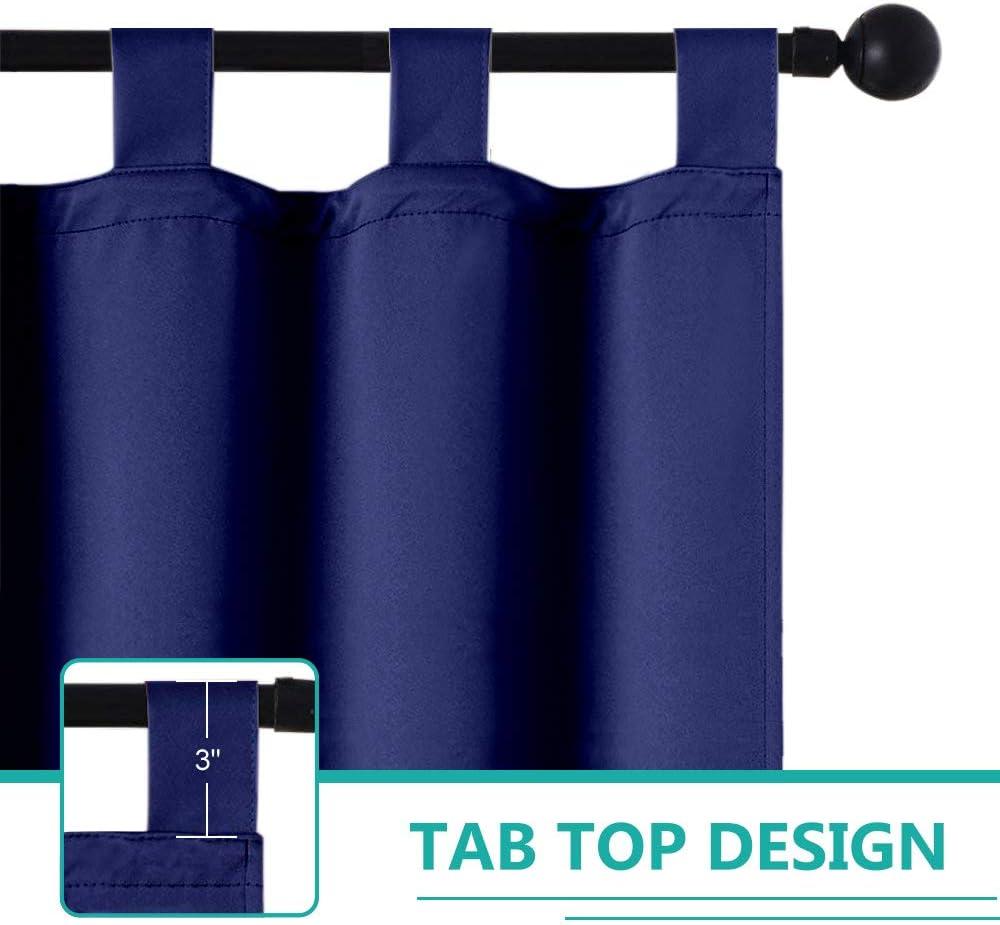 Pro Space Patio Outdoor Curtain UV Privacy Drape Waterproof Window Treatment Solid Tab Top Panel for Porch Balcony Pergola Gazebo 50x108-Inch, Blue