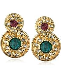 Swarovski Crystal Dutchess Gold-Plated Drop Post Earrings