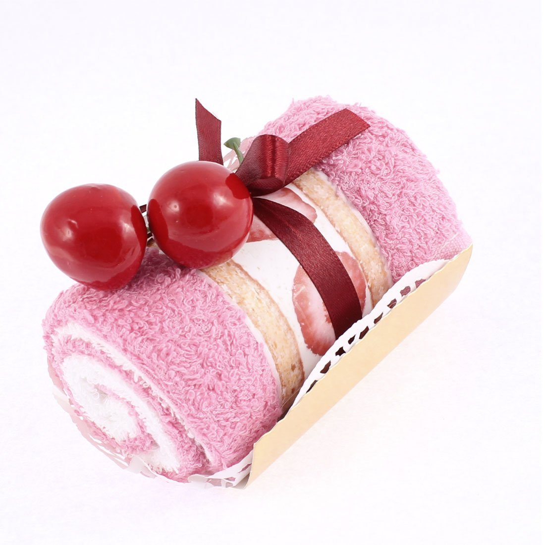 Amazon.com: eDealMax Diseño Fiesta de la boda decoración de Cereza la Torta del rodillo Mano del Regalo de la toalla rosada: Home & Kitchen