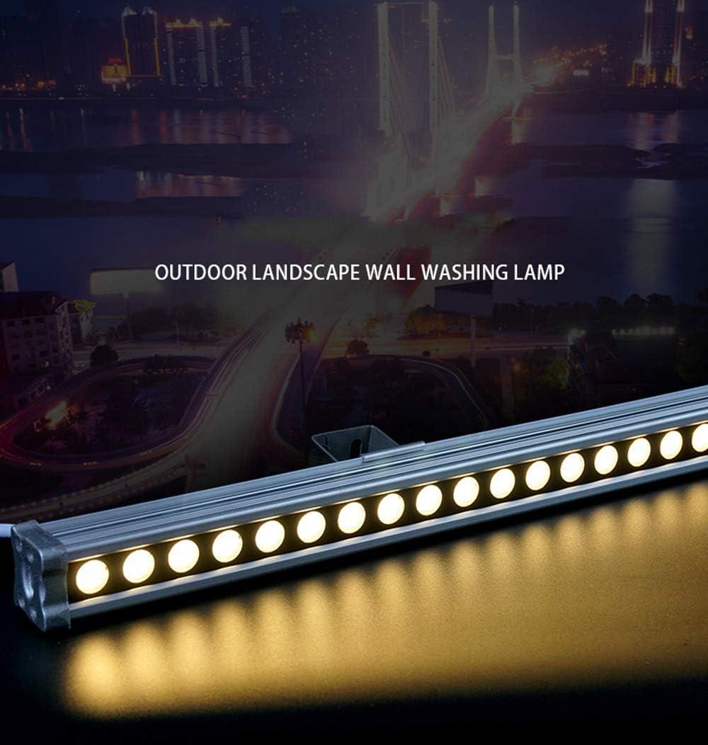 JAY-LONG Arandela De Pared LED De 12W, Luz Lineal, Luz De InundacióN De Lavado De Pared Impermeable IP66 con Panel De Vidrio De Acero, Blanco CáLido/Blanco/Amarillo/RGB,RGB Rgb