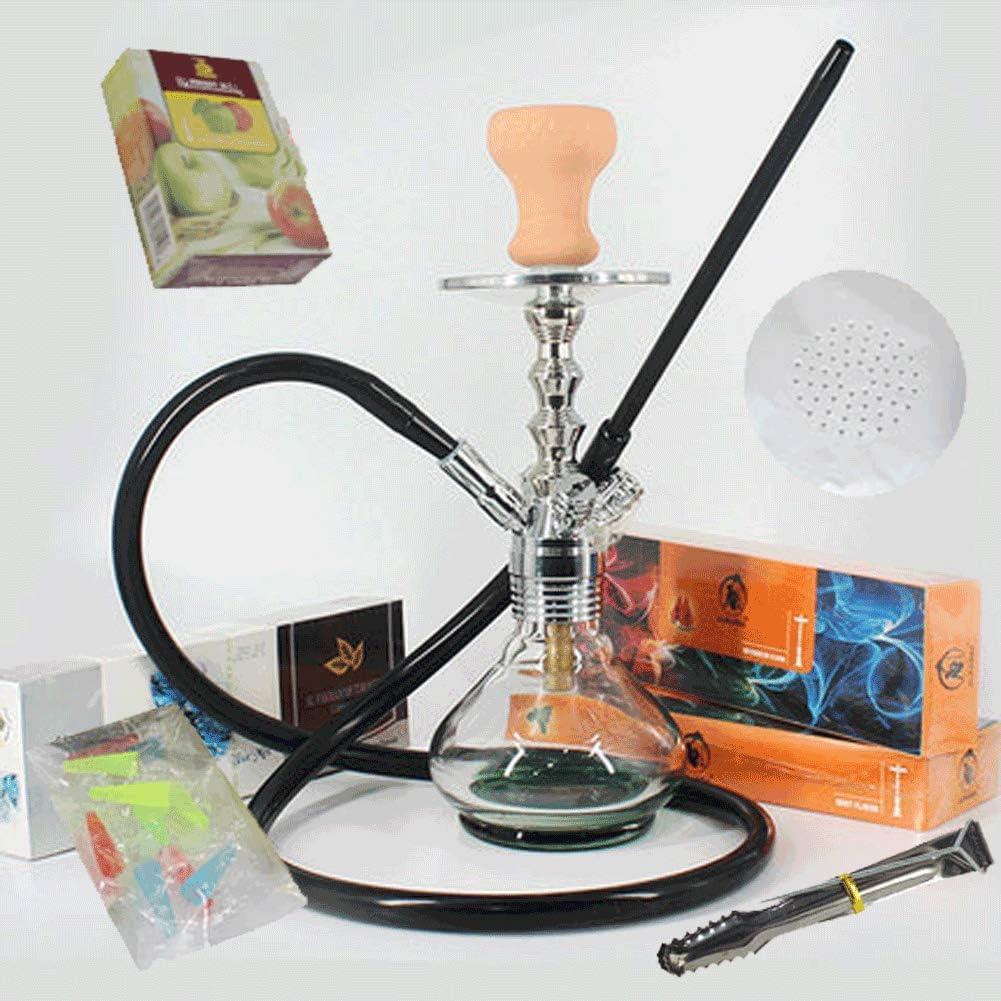 XQ Juego de cachimba Shisha, Juego de cachimba de Vidrio de Cobre Puro, Barra de Tabaco para cachimba filtrado KTV, Crema de Humo de cachimba(Size:Electronic Cigarette Butts)