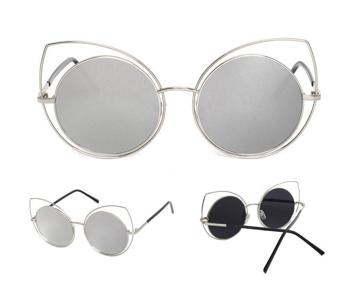 Sucastle, Katzenohren, Big Box, Gezeitenbereich, Dame, Sonnenbrille, Stern, Sonnenbrille, Persönlichkeit, Männer, Street Beat, Brille, Metall, 142mm