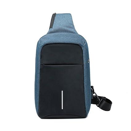 7eaf3cab78 Image Unavailable. Image not available for. Color  CJH Anti-Theft Chest Bag  Men s Tide Bag Shoulder Messenger Bag Men s Casual ...