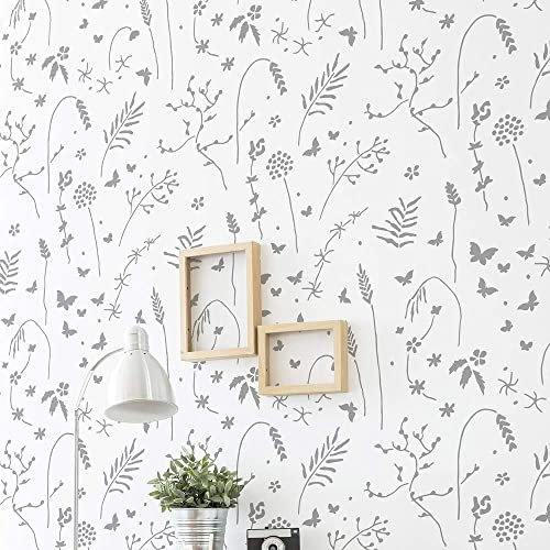 Meadow Large Wall Stencil For Painting Xl Size 24 X39