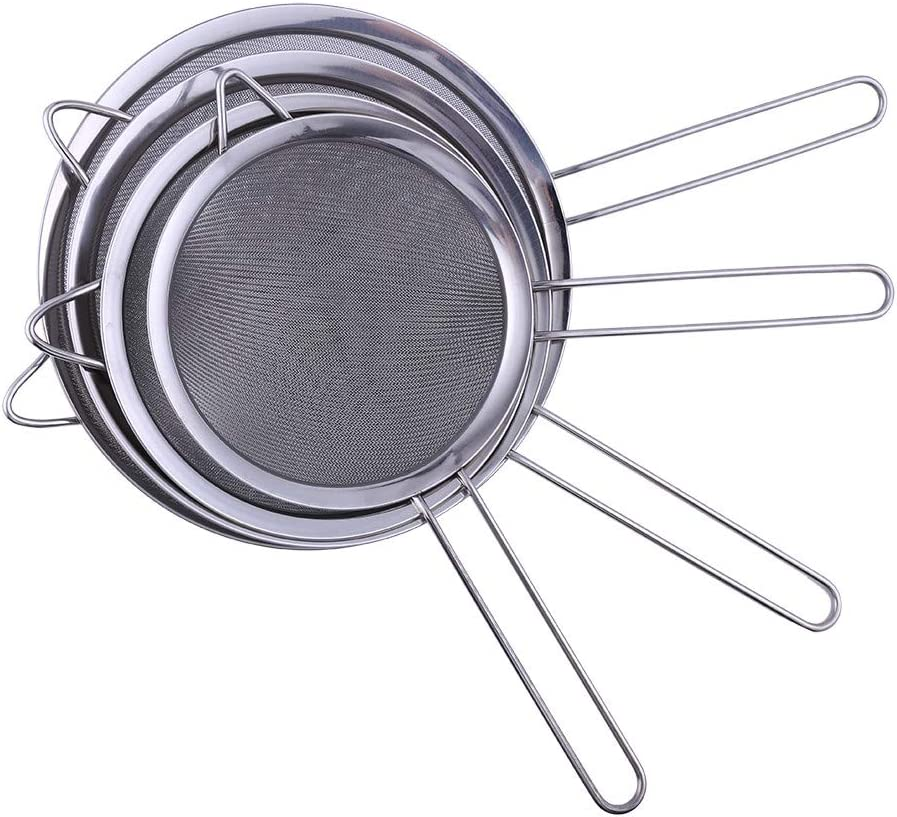 Useful Stainless Steel Wire Fine Mesh Oil Strainer Flour Colander Sifter SiUULK