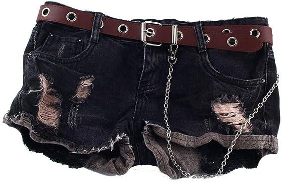 stile coreano pantaloni decorativi con fori Nero Punk Cintura con borchie per jeans alla moda cintura con occhiello in pelle per uomo e donna