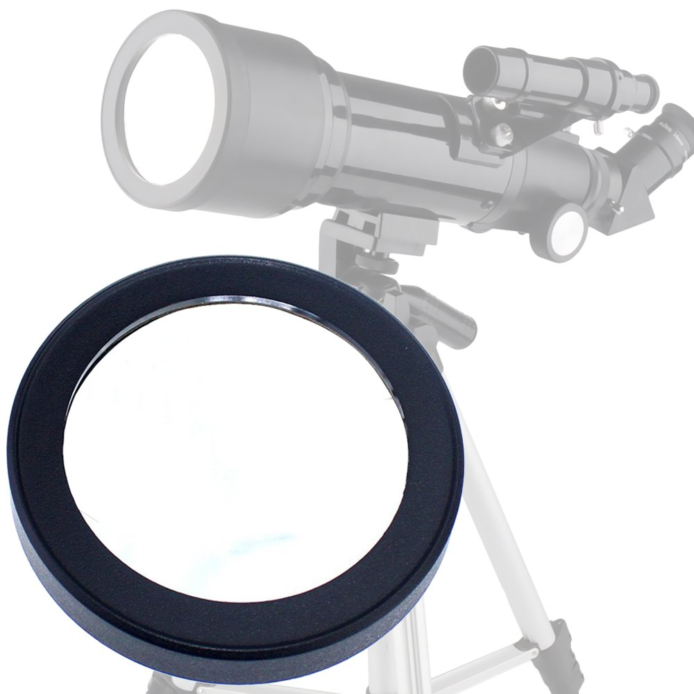 Gosky 60mm Solar Filter - For Celestron / Orion /Tasco /Bushnell 60mm Aperture Telescope- 60mm PowerSeeker, Observer 60mm AZ, Etc Baader Planetarium Film - Prepare for the Solar Eclipse of August 21