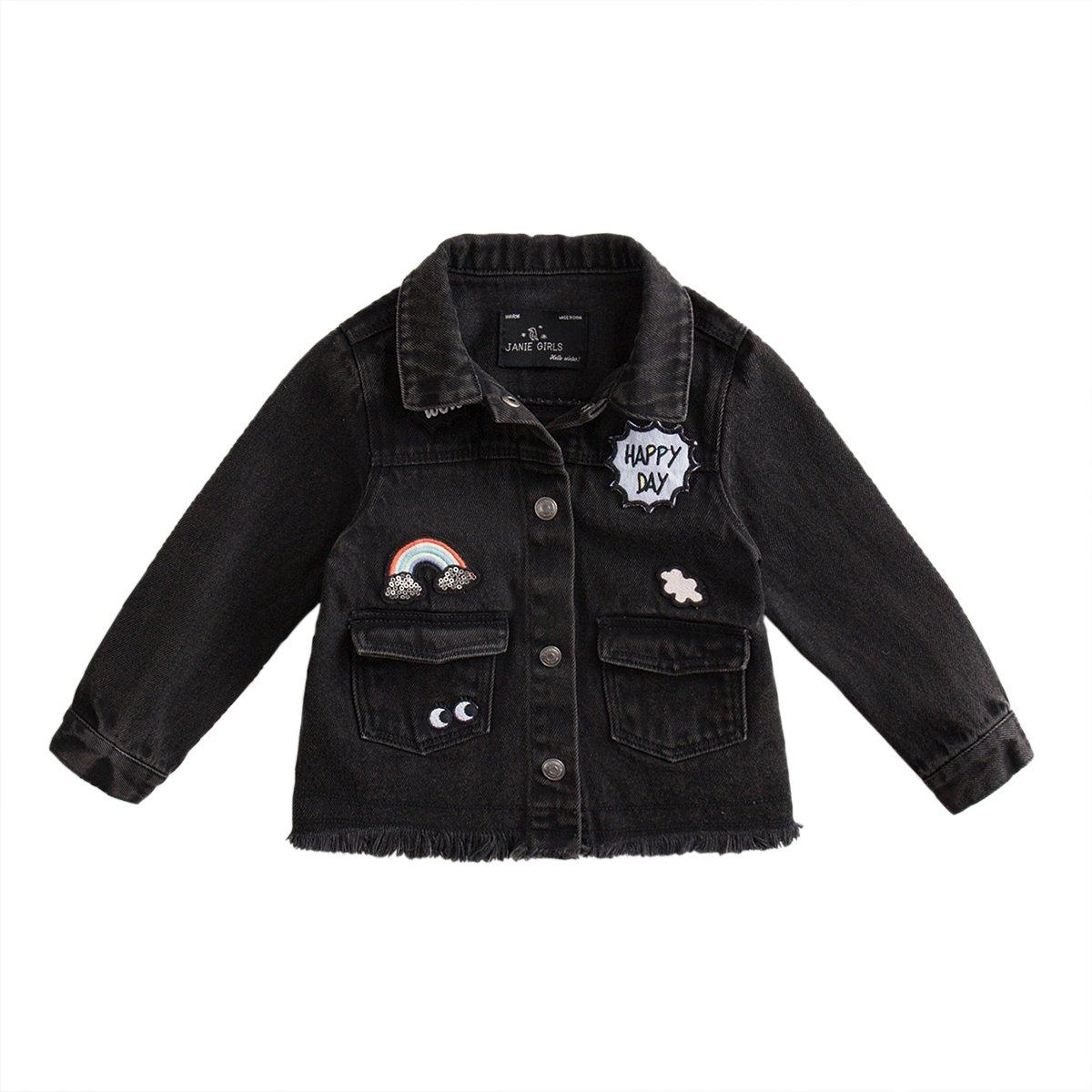 marc janie Little Boys Autumn Pre-Washed Denim Jacket Baby Boys Denim Coat TW15163