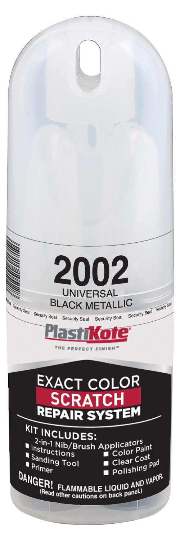 PlastiKote 2002 Black Universal Metallic Scratch Repair Kit with 2-in-1 Applicator Pen