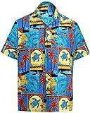 La Leela Men's Aloha Hawaiian Shirt Short Sleeve Button Down Casual Beach Party