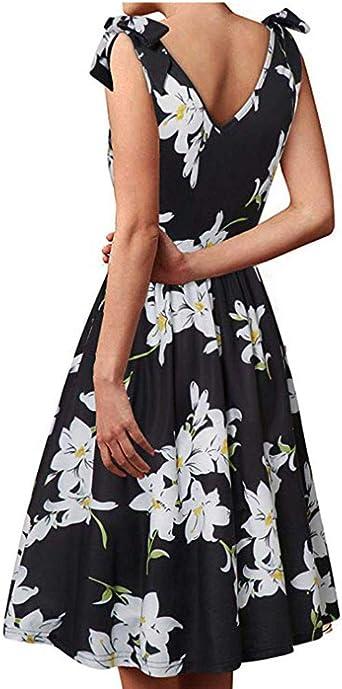 JiAJIJIAJNGY eleganckie damskie ramiona relaksacyjne, wzÓr kwiatowy, letnia sukienka, sukienka plażowa, sukienka na czas wolny, festiwal, imprezę, do tańca: Odzież