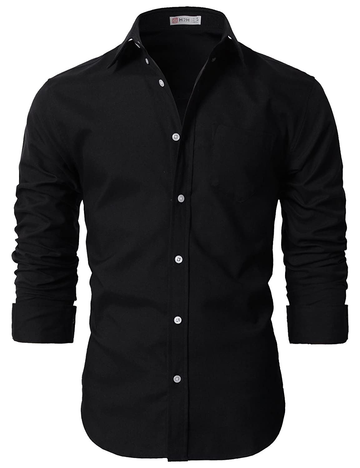 b95fec73ba69 H2H Mens Casual Slim Fit Button-Down Shirts Oxford Long Sleeve Basic  Designed at Amazon Men s Clothing store