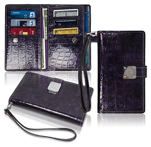 note-edge-wallet-case-glossy-9-pockets-for-6-id-credit-card-3-cash-slots-power-magnetic-with-wrist-s