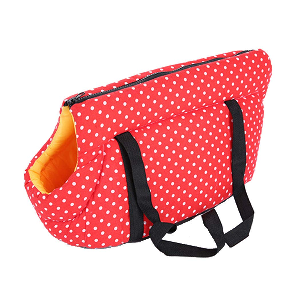 Red Pet Carrier Bag Portable Pet Carriers Canvas Handbags Backpack Outdoor Package for Small and Medium Sized Dogs and Cats (bluee)