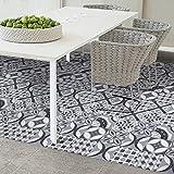 SHZONS Floor Peel & Stick European Vinyl Tile for Home Kitchen Bathroom Hotel Decoration 7.87 x 196.85 Inch