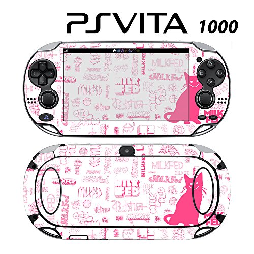 Skin Decal Cover Sticker for Sony PlayStation PS Vita (PCH-1000) - Kitty Milk Fed -  Decals Plus
