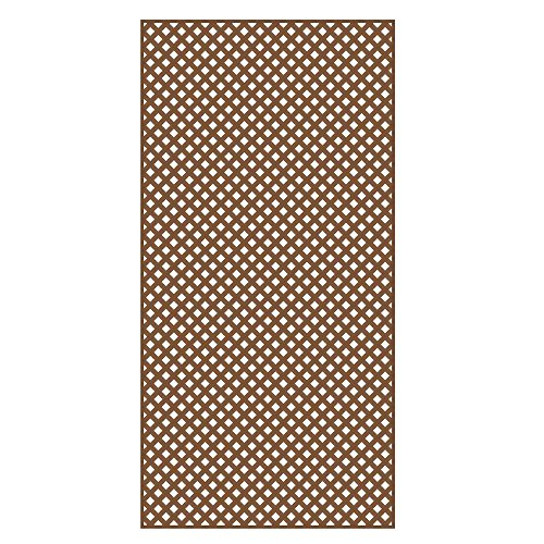 Veranda 0.2 in. x 4 ft. x 8 ft. California Redwood Vinyl Privacy Diamond Lattice