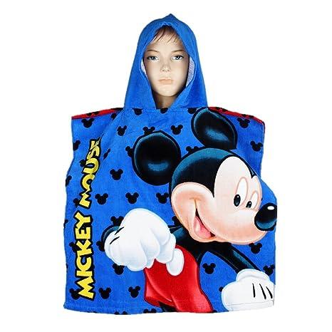 Niños chicos Disney Mickey Mouse con capucha baño/toalla de playa poncho