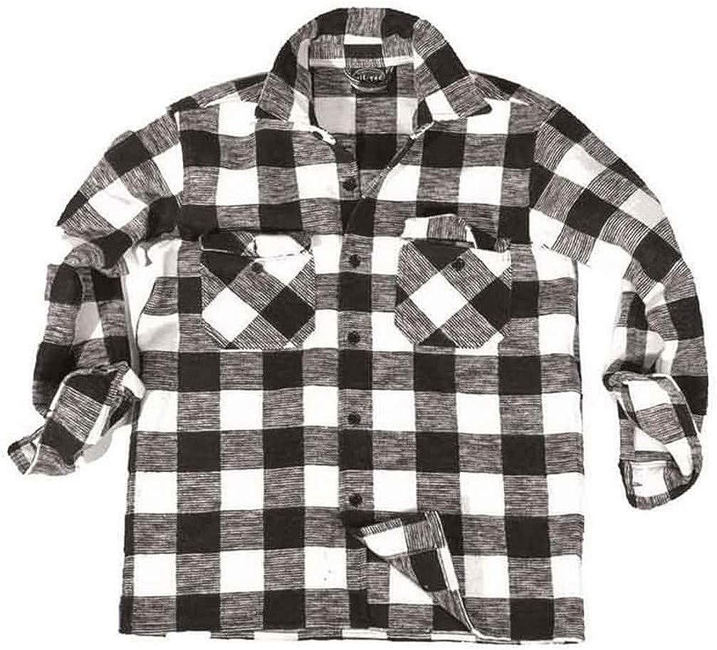 Rosso//Nero Camicia in Stile Boscaiolo Colore Mil-Tec