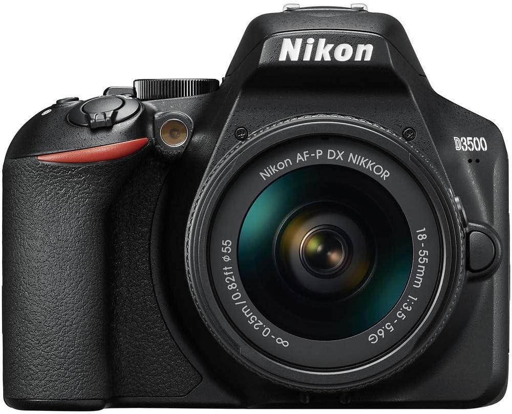 Nikon D3500 - Cámara Réflex, Kit con Objetivo 18/55, 24.2 MP, DX, CMOS, montura F, ISO 100-25600, USB, LCD TFT de 3.2