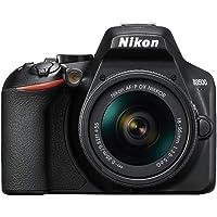 "Nikon D3500 - Cámara Réflex, Kit con Objetivo 18/55, 24.2 MP, DX, CMOS, montura F, ISO 100-25600, USB, LCD TFT de 3.2"", botón AE-L/AF-L, CPU, Modo Automático, color negro"