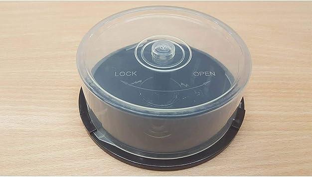10x Vacía 25 Disco Eje Bañera / Pastel Caja para Guardar Dvdr / Cdr / Bdr Discos: Amazon.es: Electrónica