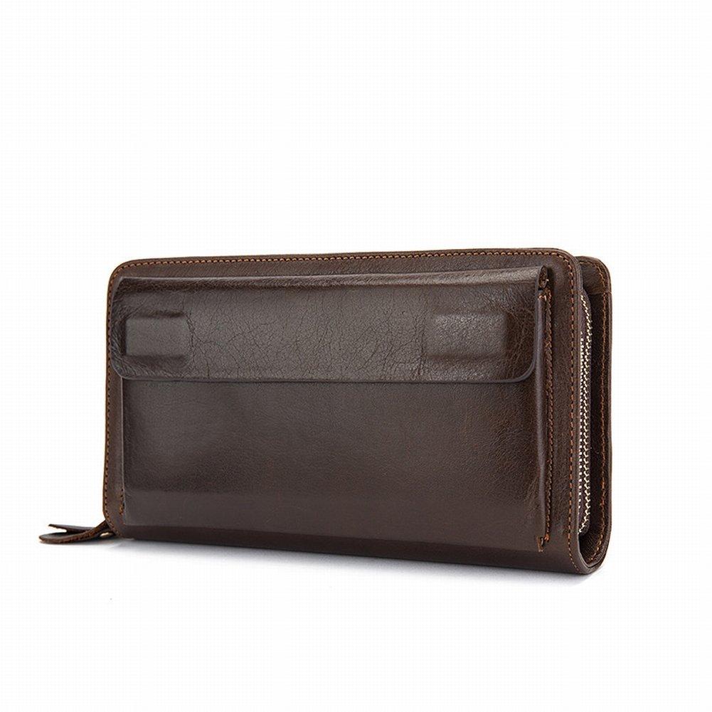 Mal Rad Spezielle Herren Taschen Herrenhandtaschen Leder Geschäft Groß Kupplung Weiche Leder Clutch Taschen Handtaschen , Kaffee