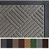 Gorilla Grip Original Durable Rubber Door Mat (29 x 17) Heavy Duty Doormat, Indoor Outdoor, Waterproof, Easy Clean, Low-Profile Mats for Entry, Garage, Patio, High Traffic Areas (Gray Diamond)