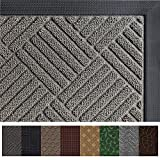 #8: Gorilla Grip Original Durable Rubber Door Mat, Heavy Duty Doormat, Indoor Outdoor (35 x 23) Waterproof, Easy Clean, Low-Profile Rug Mats for Entry, Garage, Patio, High Traffic Areas (Gray: Diamond)
