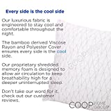 Coop-Home-Goods-Hypoallergenic-Shredded-Memory-Foam-Pillow-with-aRemovable-Polyester-and-Bamboo-Derived-Vicose-Rayon-Cover