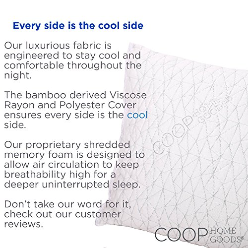 Improved Design - Adjustable Shredded Memory Foam Pillow with Viscose Rayon Cover...