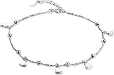 bracelet cheville femme argent