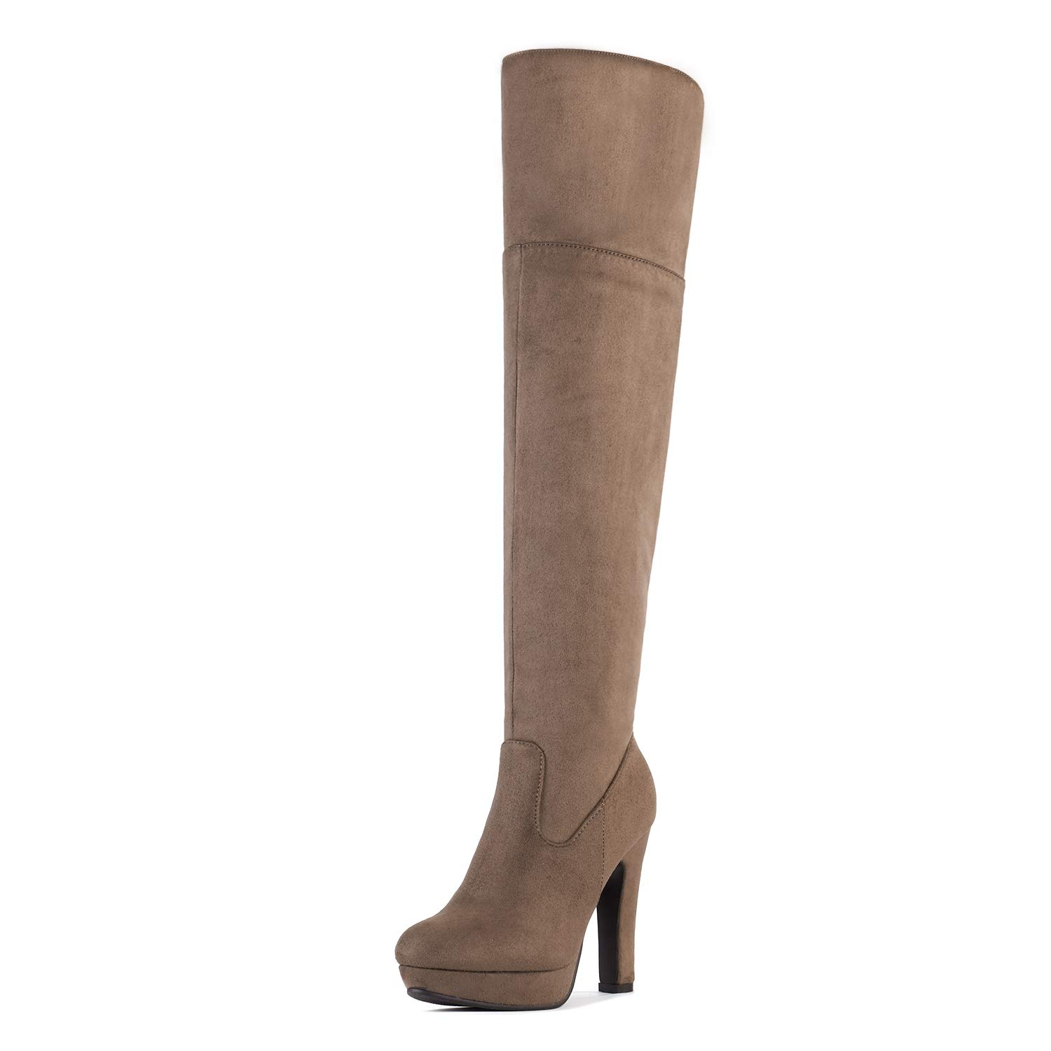 2707783aad2 DREAM PAIRS Women s Knee High High Heel Winter Fashion Boots product image