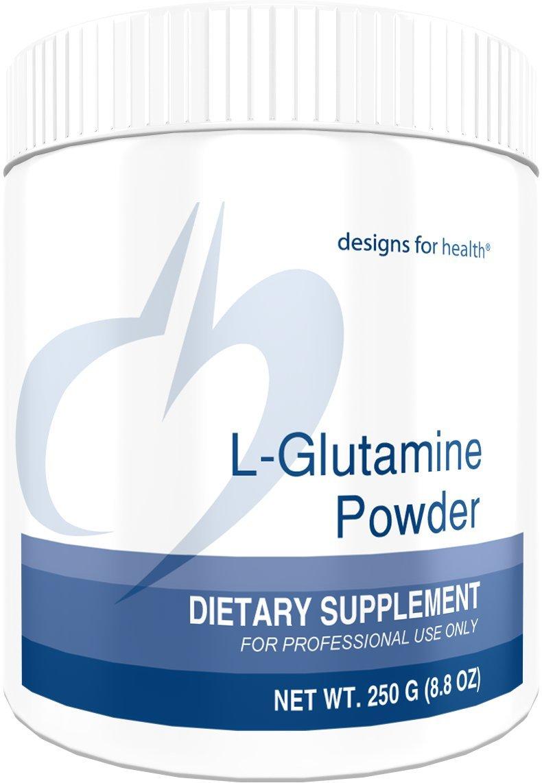 Designs for Health L-Glutamine Powder 3000 Milligrams - Amino Acid for Gut + Immune Support (83 Servings, 250 Grams)