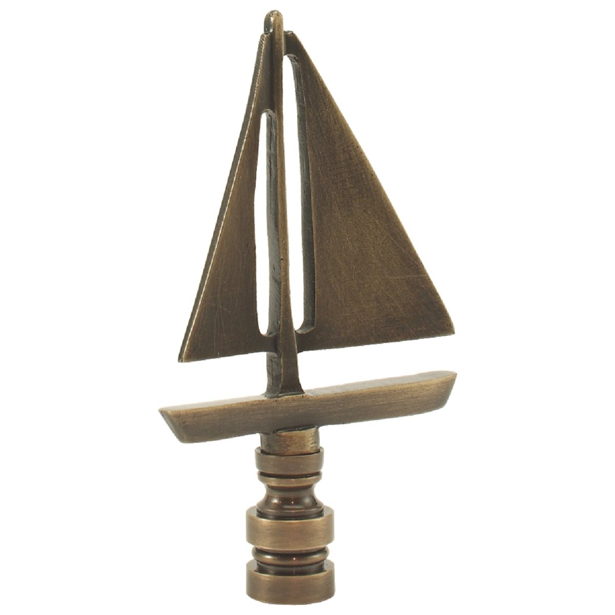 Sailboat - Antique Brass finish - 3.5 Inches high - 2 Inches wide