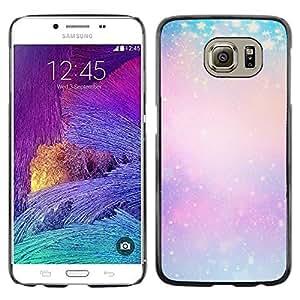 Caucho caso de Shell duro de la cubierta de accesorios de protección BY RAYDREAMMM - Samsung Galaxy S6 SM-G920 - Yellow Winter Snow Pink