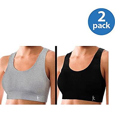 4dade63b3e Amazon.com  Danskin Now Seamless Raceback Sport Bra 2-pack (Medium Impact)  (X-Large
