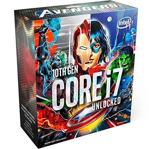 Processador Intel Core i7-10700K Marvel´s Avengers Collector´s Edition Packaging, Cache 16MB, 5.1GHz, LGA1200…