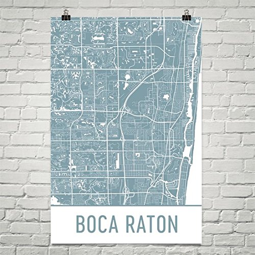 Boca Raton Poster, Boca Raton Art Print, Boca Raton Wall Art, Boca Raton Map, Boca Raton City Map, Boca Raton Florida City Map Art,Boca Raton Gift,Boca Raton Decor, ( 12
