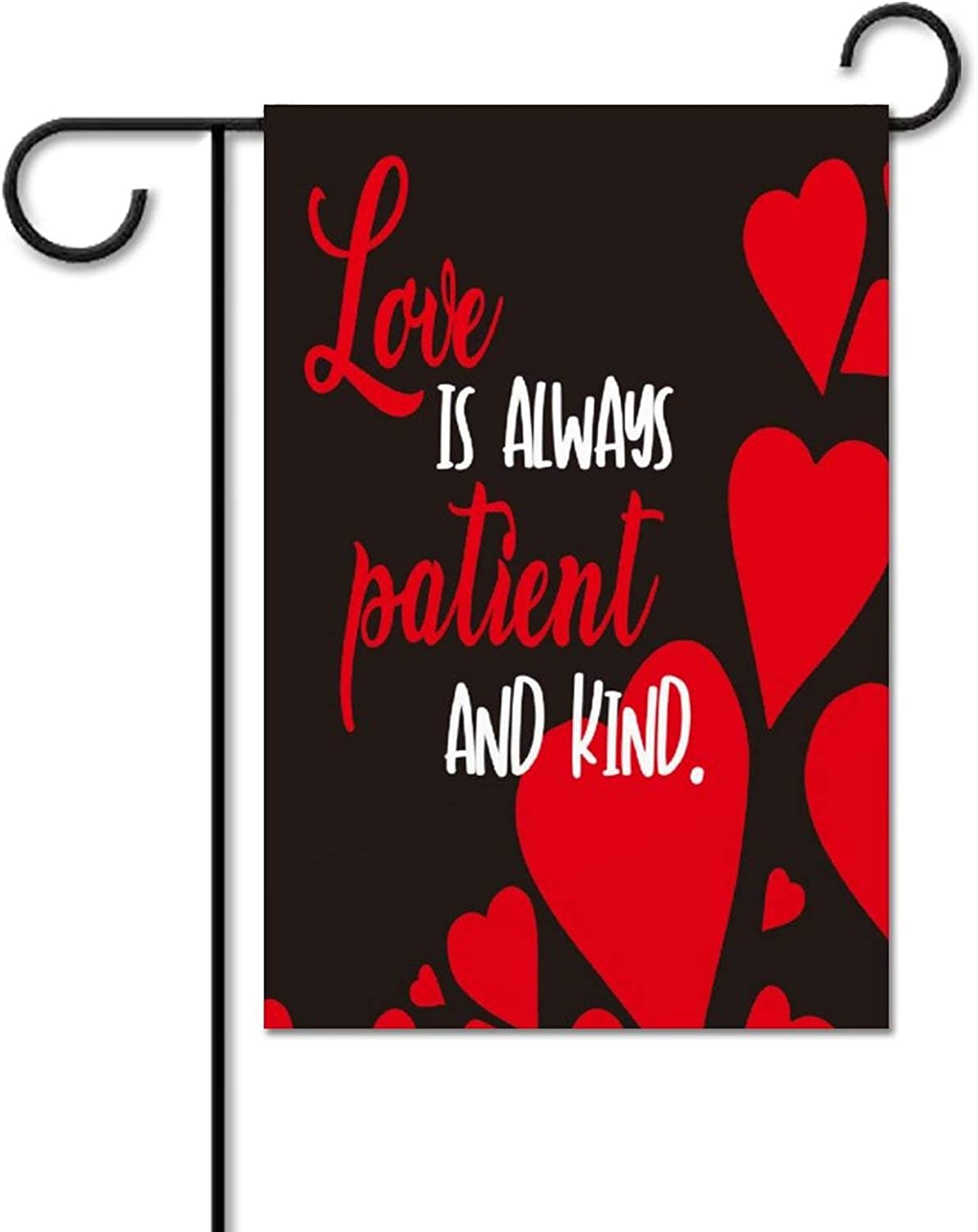 None-brands Valentine's Day Garden Flag Love is Always Patient and Kind Flag, Olive Garden Flag, Secret Garden Flag, Garden Centre Flag, Garden Flag for Outside, Yard Outdoor Decoration