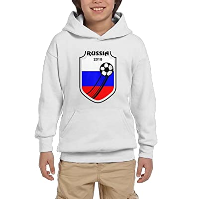 2018 Football Russia Youth Pullover Hoodies Fashion Pockets Sweaters