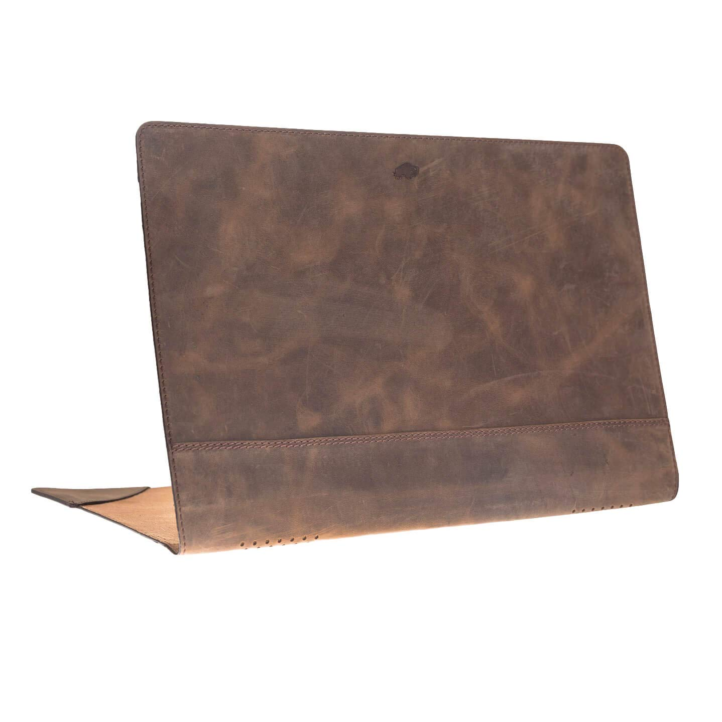 Apple MacBook Pro 13'' Burkley Soft Cover Case, Handmade and Genuine Leather for Apple MacBook Pro 13'' (Distressed Antique Coffee)