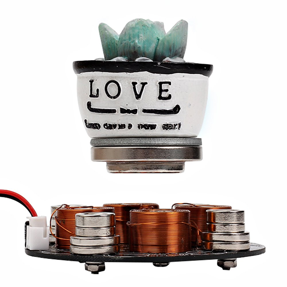 IS Icstation Electronic Maglev Levitron Magnetic Levitation Kit Display Suspension Stand Floating Holder Up to 220g for DIY Decoration Collection Show by IS (Image #7)