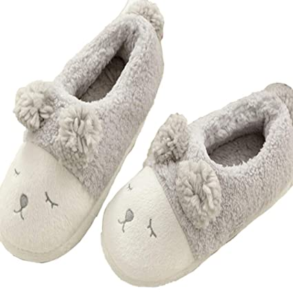 bd43020f7 Amazon.com: Nafanio Winter Cartoon Slippers Sheep House Anti-Slip Cashmere  Indoor Floor Home Women Shoes: Sports & Outdoors