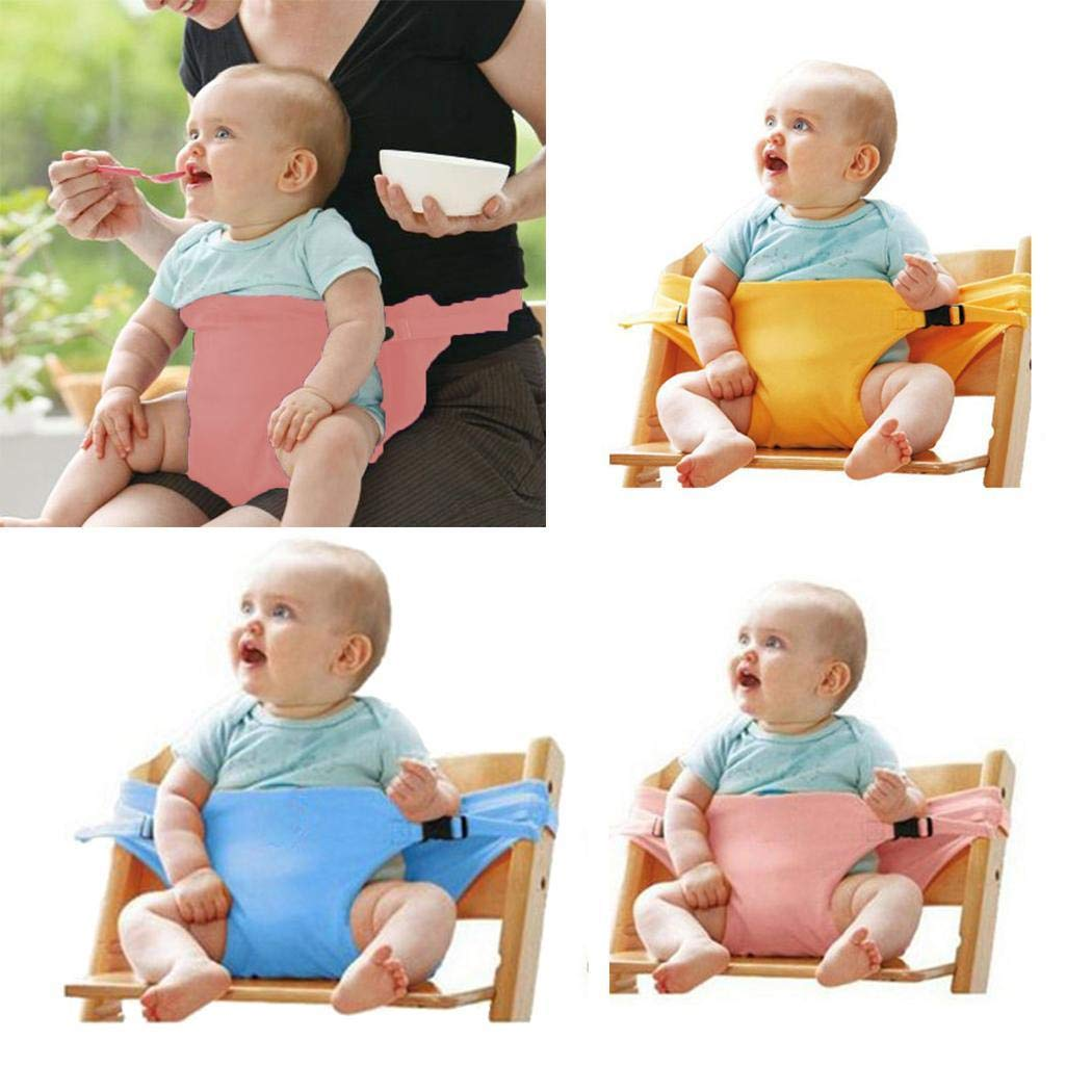 Oineke Baby Chair Safety Belt Dining Secure Strap Kids Seat Stretch Wrap Harness Head /& Body Supports