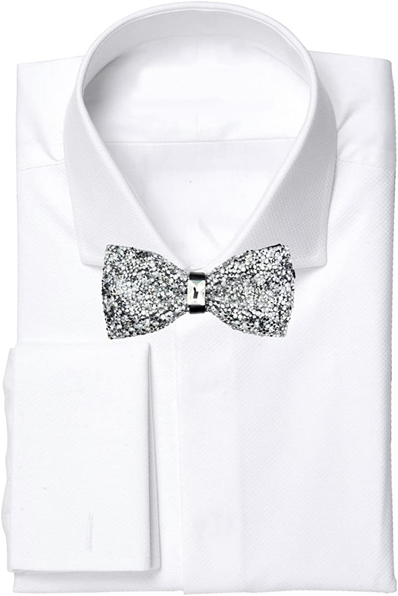 Crystal Glitter Bow tie Luxurious Wedding Party Rhinestone Adjustable Bowtie