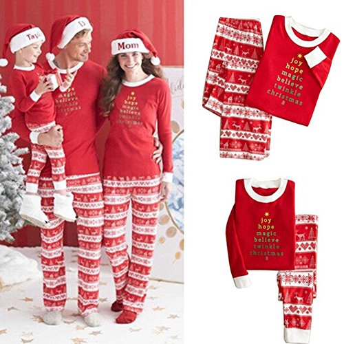 Hinmay Family Matching Pajamas Set, Christmas Kids Baby Womens Mens Clothes Sleepwear Nightwear by (Matching Holiday Pajamas)
