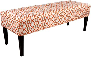 product image for MJL Furniture Designs Kaya Collection Upholstered and Padded Button Tufted Accent Bedroom Bench, Noah Series, Sunset