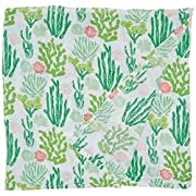 Aden + Anais Single Swaddle Baby Blanket, 100% Cotton Muslin, Large 47 X 47 inch, Cactus Blooms