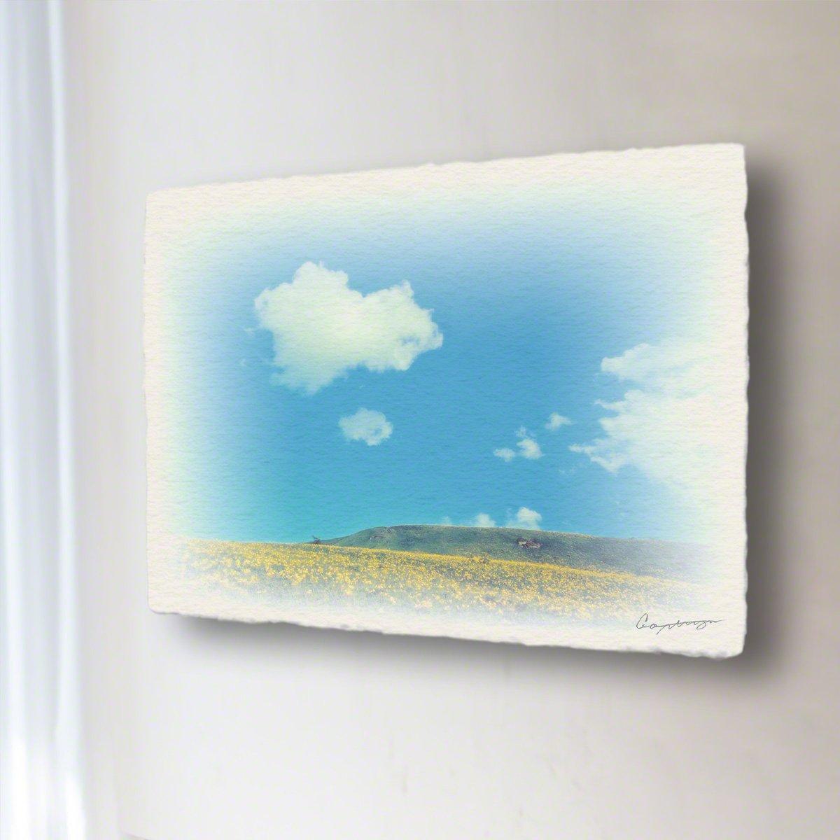 和紙 アートパネル 「青い空と白い雲とニッコウキスゲの丘」 (18x13.5cm) 絵 絵画 壁掛け 壁飾り インテリア アート B01MS7NYXP 11.アートパネル(長辺18cm) 1980円|青い空と白い雲とニッコウキスゲの丘 青い空と白い雲とニッコウキスゲの丘 11.アートパネル(長辺18cm) 1980円